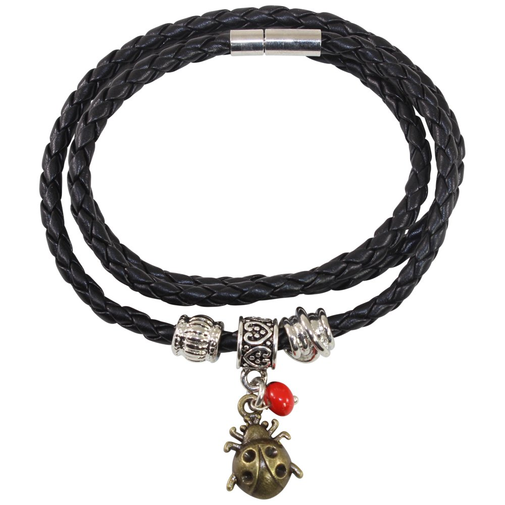 Handmade Jewelry by Evelyn Brooks Dragonfly Charm Huayruro Red Seeds Peruvian Gift Bracelet for Women