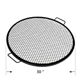 Cheap onlyfire Heavy Duty Round X-Marks Fire Pit Cooking Grate Grill, 30 Inch Diameter