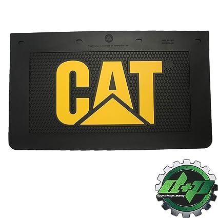 Semi Mud Flaps >> Amazon Com Diesel Power Plus Cat Mud Flaps Guard 24x14 Yellow