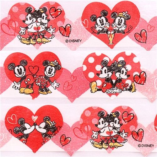 Die Cut Mickey Mouse Heart Love Washi Masking Tape Amazoncouk