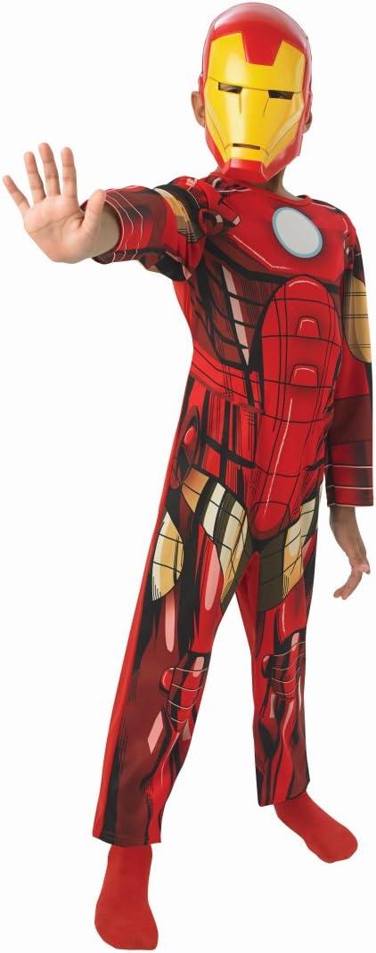 Traje niños superhéroe Disfraz Iron Man niño M 128 cm años 5 - 7 ...