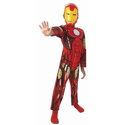 Traje niños superhéroe Disfraz Iron Man niño M 128 cm años 5 ...