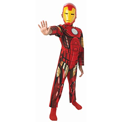 Traje niños superhéroe Disfraz Iron Man niño L 140 cm años 8 - 10 ...