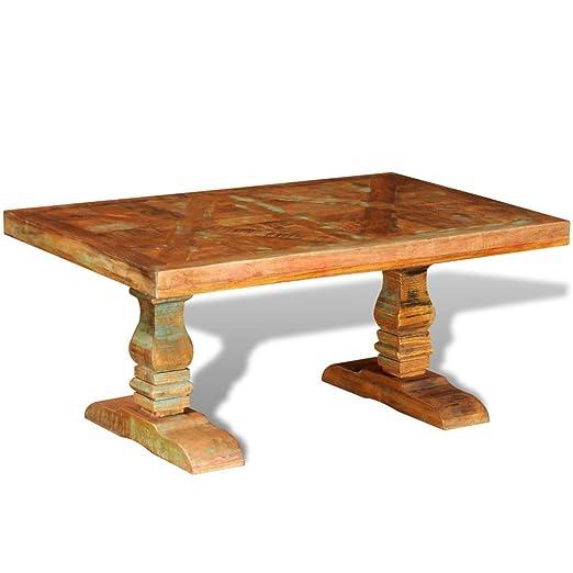 vidaXL Mesita para café mesa auxiliar anticuada comedor salón ...