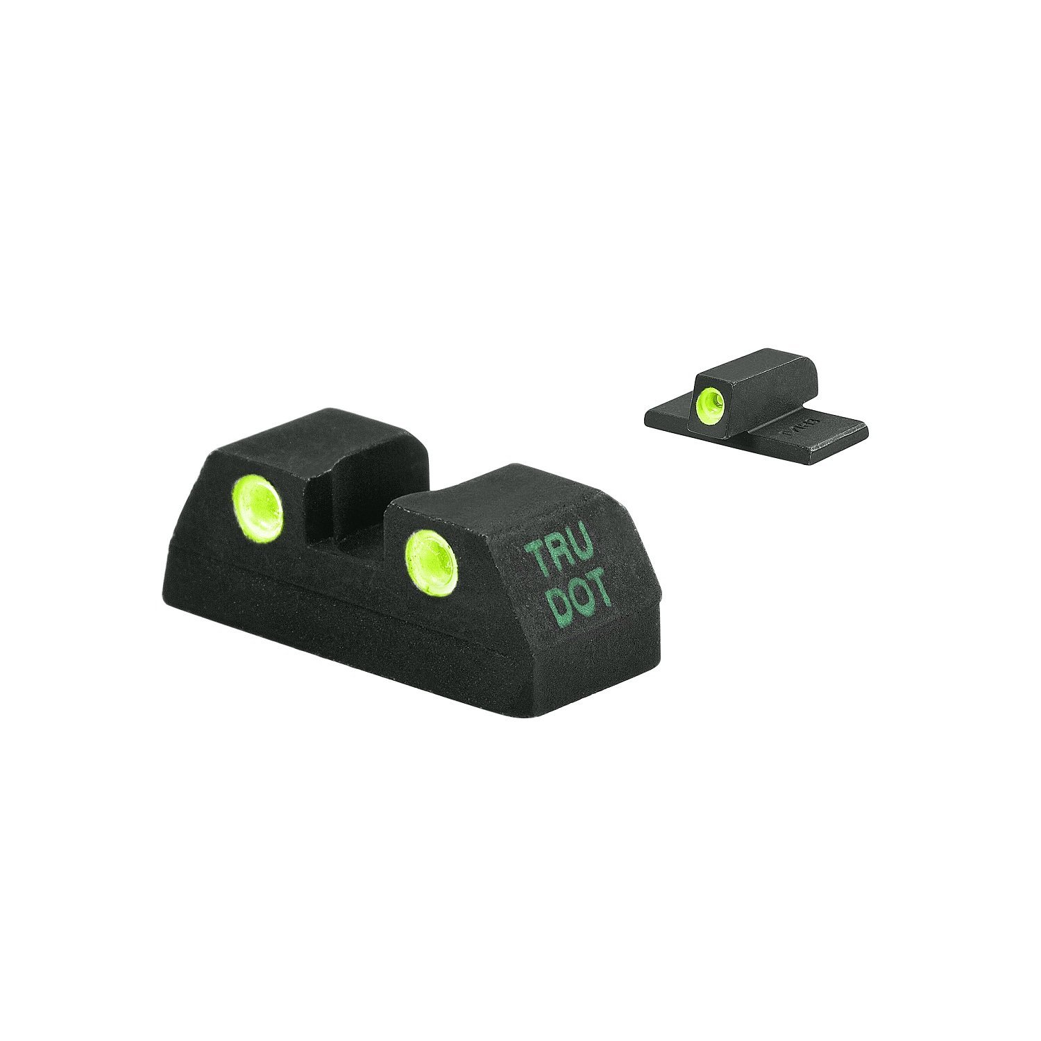 MAKO Kahr Tru-Dot Night Sight for K,P,MK,PM 9, 40, 45. Fixed Set with green rear and front sight. by Meprolight
