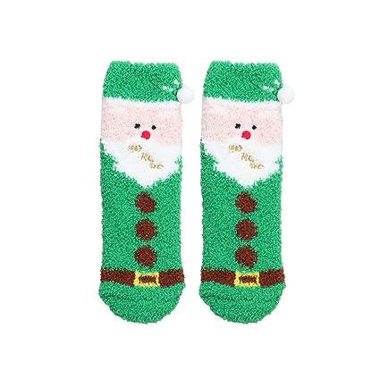 Lfy calzini antiscivolo di peluche per bambini di natale scatola