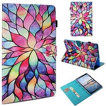 Amazon Galaxy Tab A 80 2017 Case Lotus Flower Smart Folding