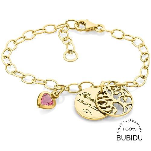 Kinderarmband Mädchen Gold Taufe Armband 925 Sterling