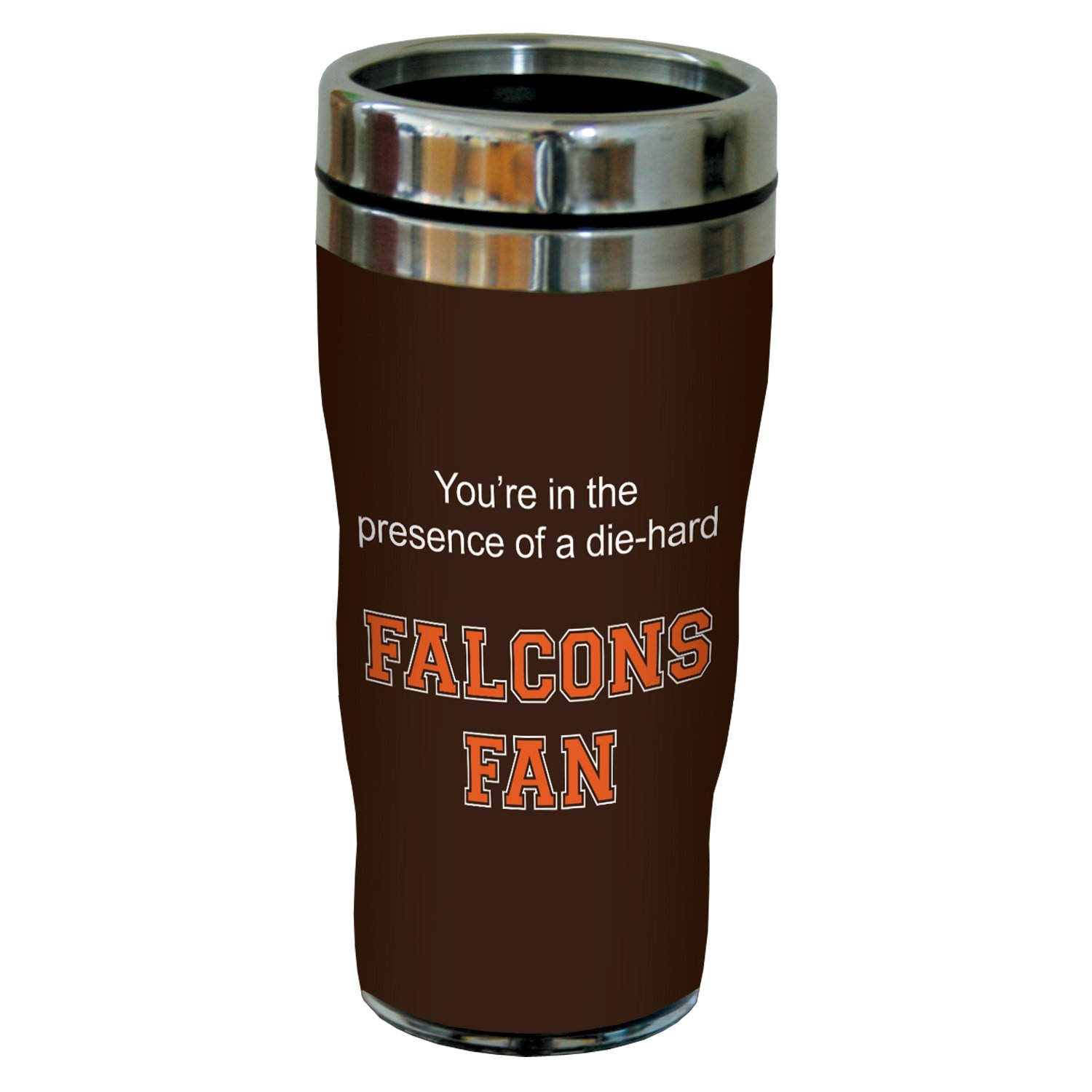 Tree-Free Greetings sg24394 Falcons College Football Fan Sip 'N Go Stainless Steel Lined Travel Tumbler, 16-Ounce