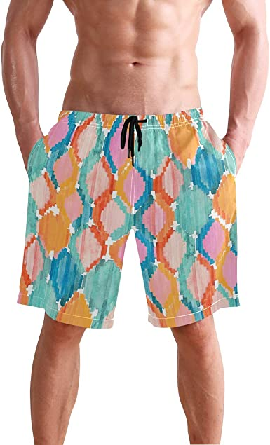 Swim Trunks for Men Balakie Stripe Quick Dry Beach Surfing Swimming Shorts
