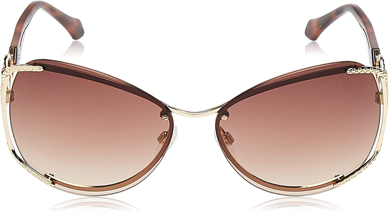 Roberto Cavalli RC1075 32G 60 Monturas de gafas Dorado OroMarrone Specchiato 60.0 Unisex Adulto