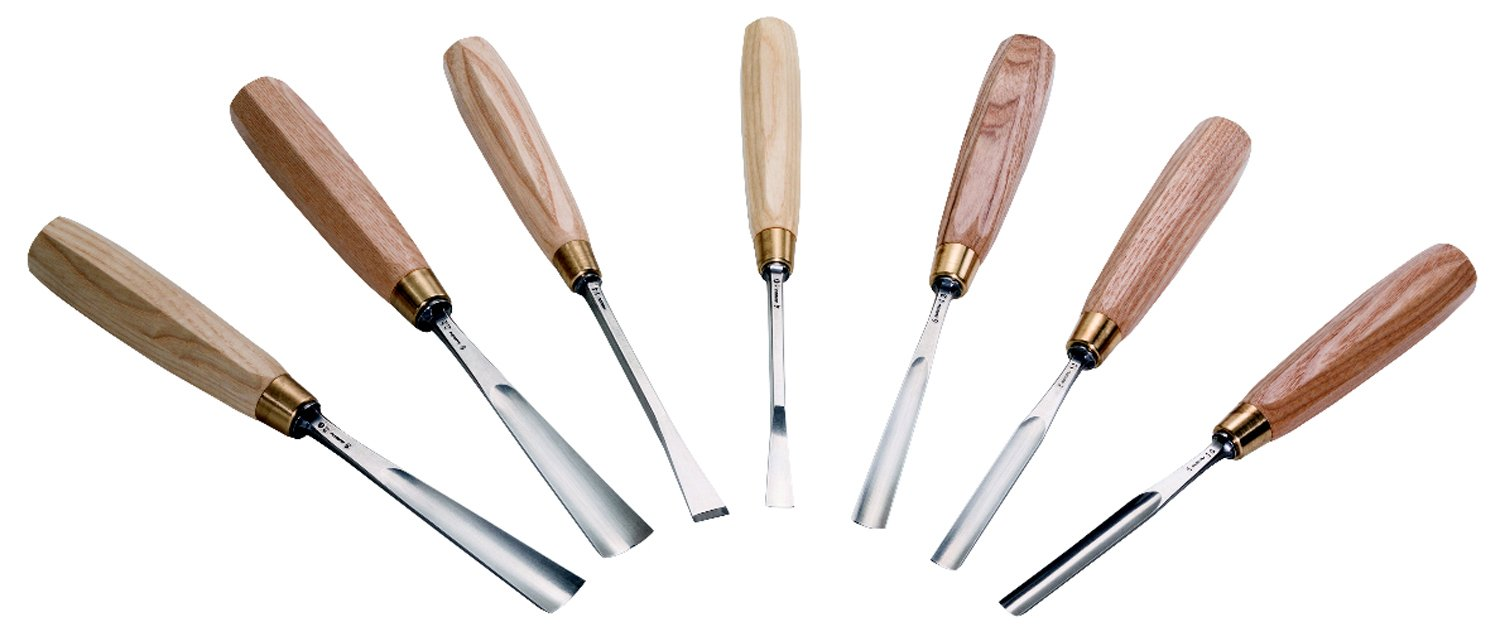 Chris Pye - Auriou Lettering Gouges and Fistails - Set of 7 by Auriou