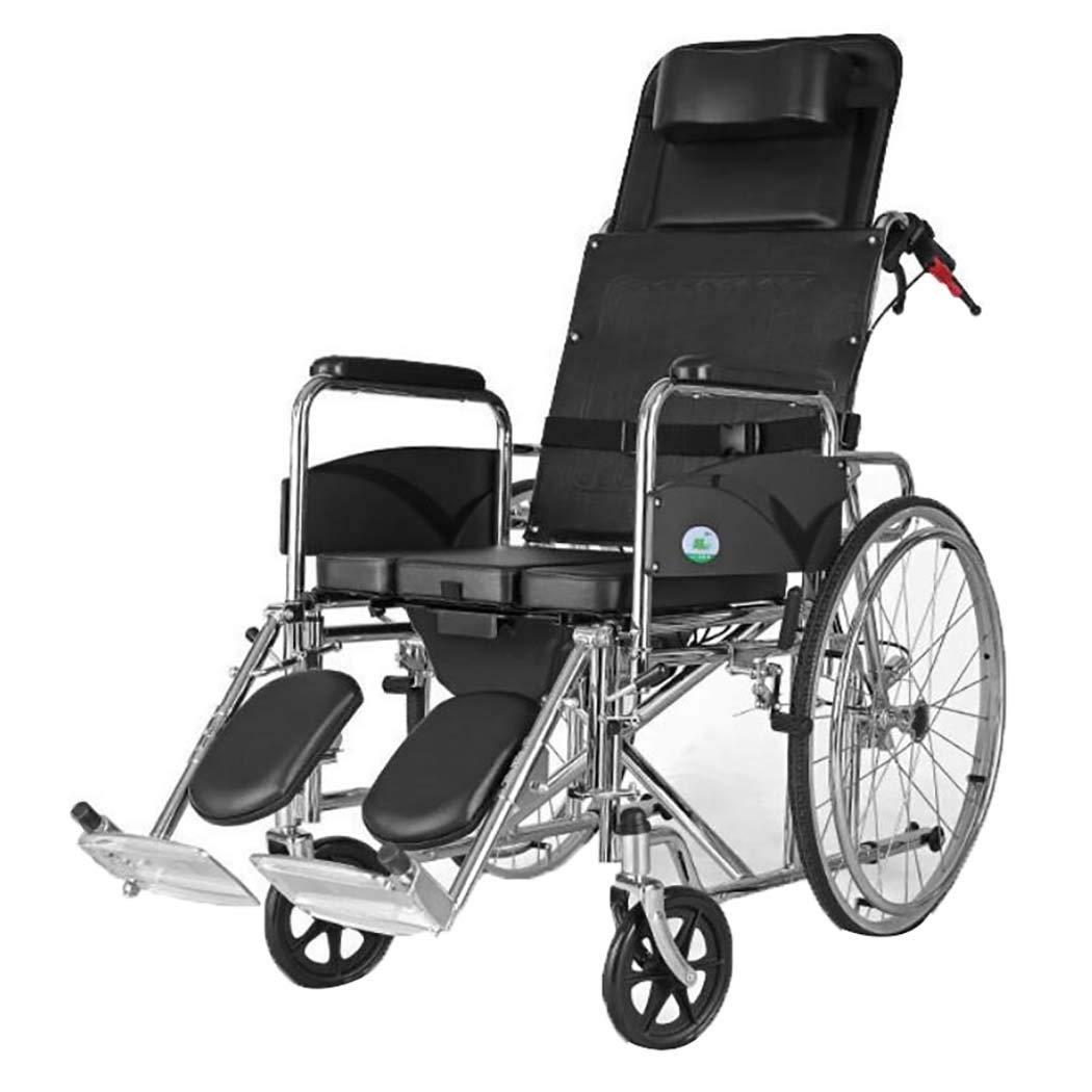 専門店では HSBAIS B07LF6S6L8 19\ ラグジュアリードライブ医療輸送車いす軽量折りたたみ、頑丈で丈夫なスチールパイプを立たせることができます,19