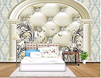 Weaeo 3d European Style Drill Background Wall Painting Photo 3d Wallpaper Home Decoration Living 3d Wallpaper 350x250cm Amazon Co Uk Diy Tools