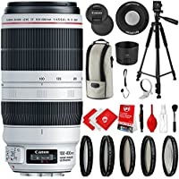 Canon EF 100-400mm f/4.5-5.6L IS II USM Lens with 5 Piece Filter Kit, 60 Tripod and Bundle Accessory