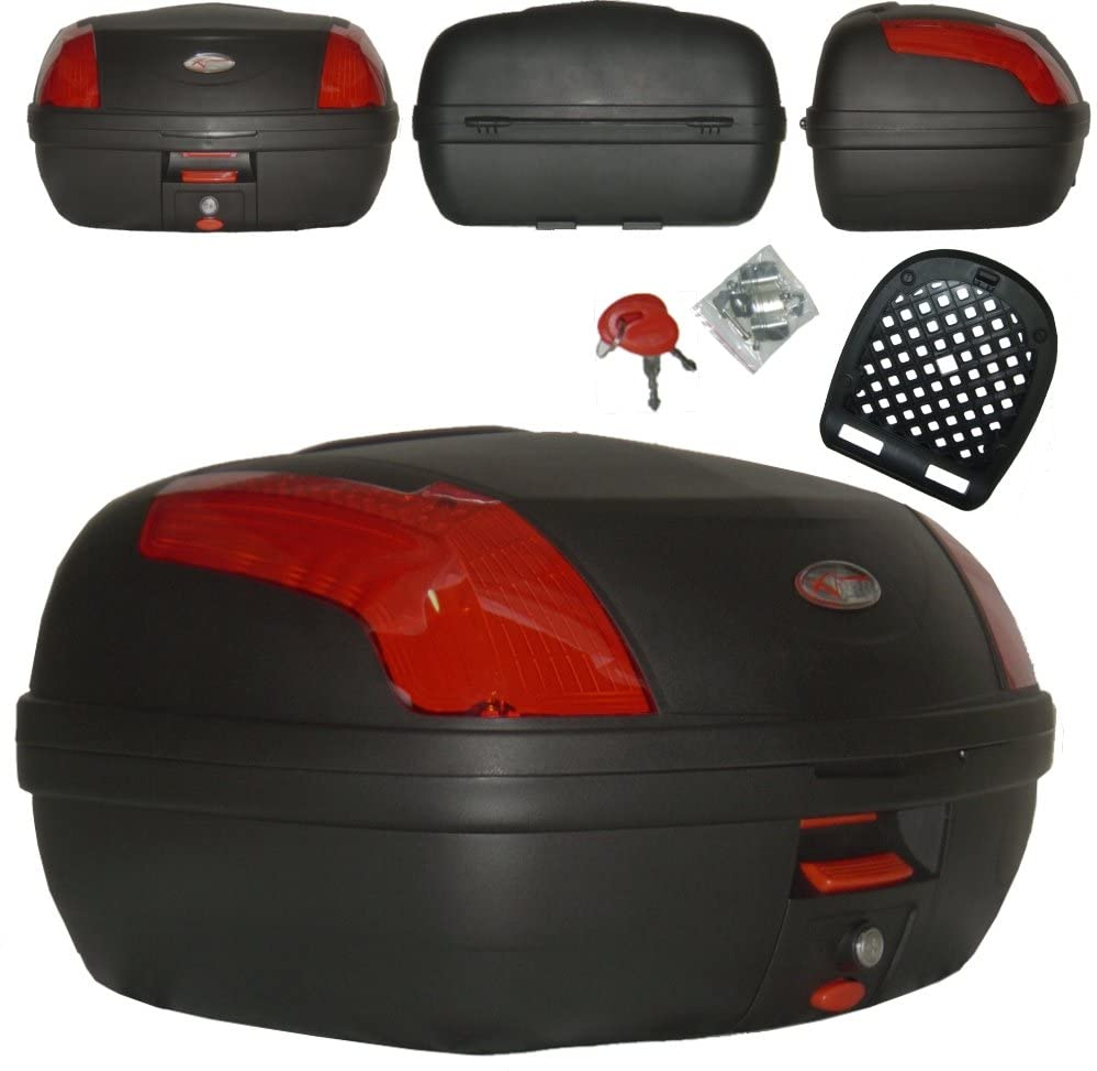 A-Pro Universal Polipropileno Motorcycle Moto Scooter Rear Luggage Caja Top Case