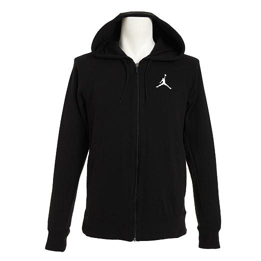 0f31d2a135 Amazon.com  Nike Men s Jordan Flight Lite Full Zip Hoodie Black ...
