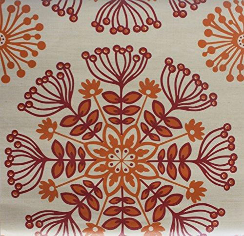 Sanitas Easy To Remove Strippable Wallpaper (Modern Flower Orange)