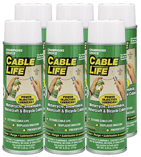 Protect All 25006-06 Cable Life Lubricant Aerosol, 6.25 fl. oz, 6 Pack by Protect All (Image #1)
