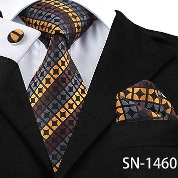 XZ Moda Corbata Corbata Seda Marrón Paisley Corbatas florales para ...