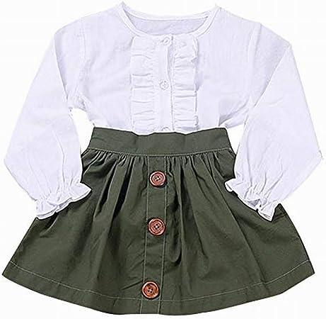 Homsesweet - Falda corta de manga larga para niñas, diseño de ...