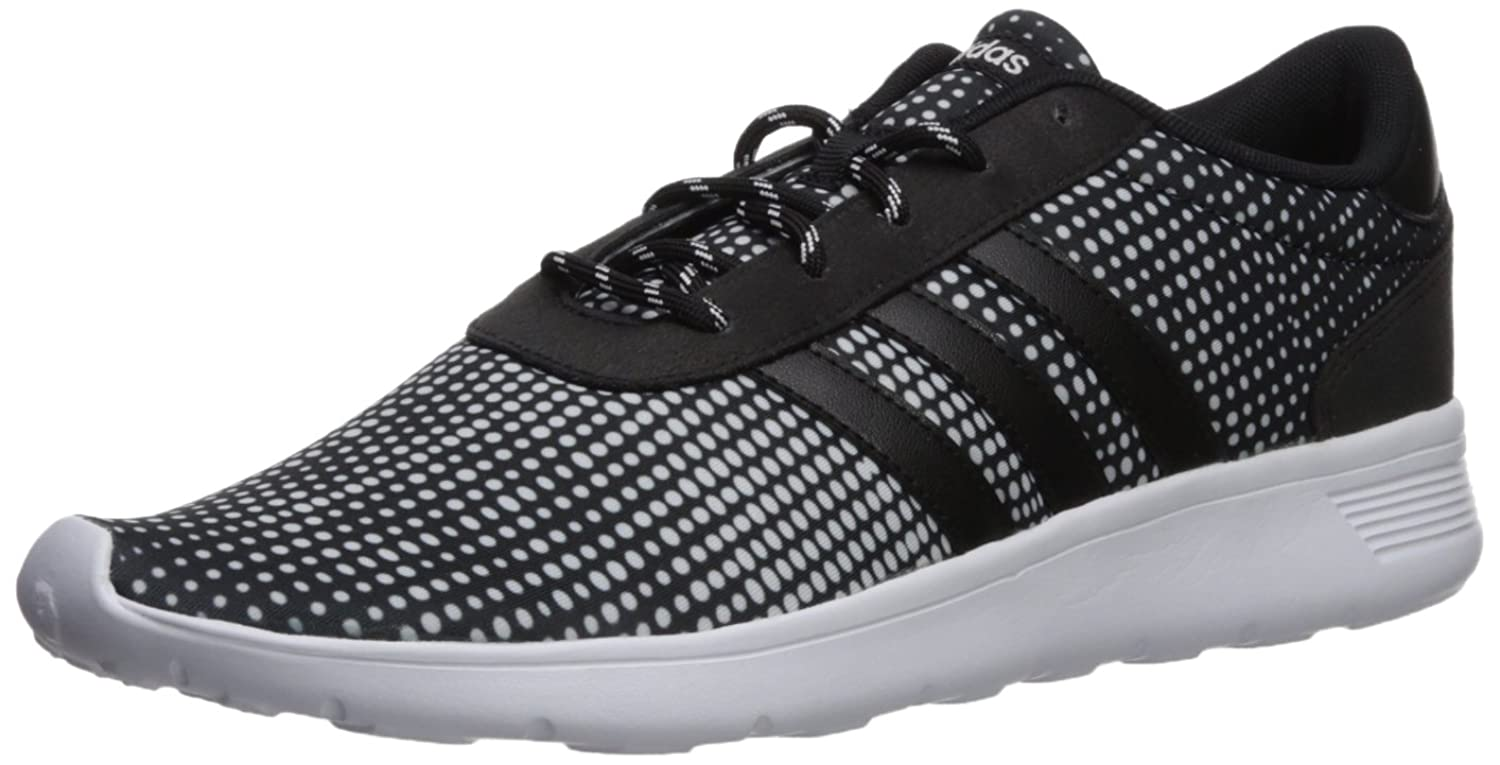 adidas Women's Lite Racer W Sneaker, Black/Black/White, 11 Medium US