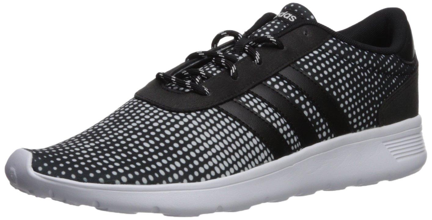adidas Women's Lite Racer W Sneaker, Black/Black/White, 11 Medium US