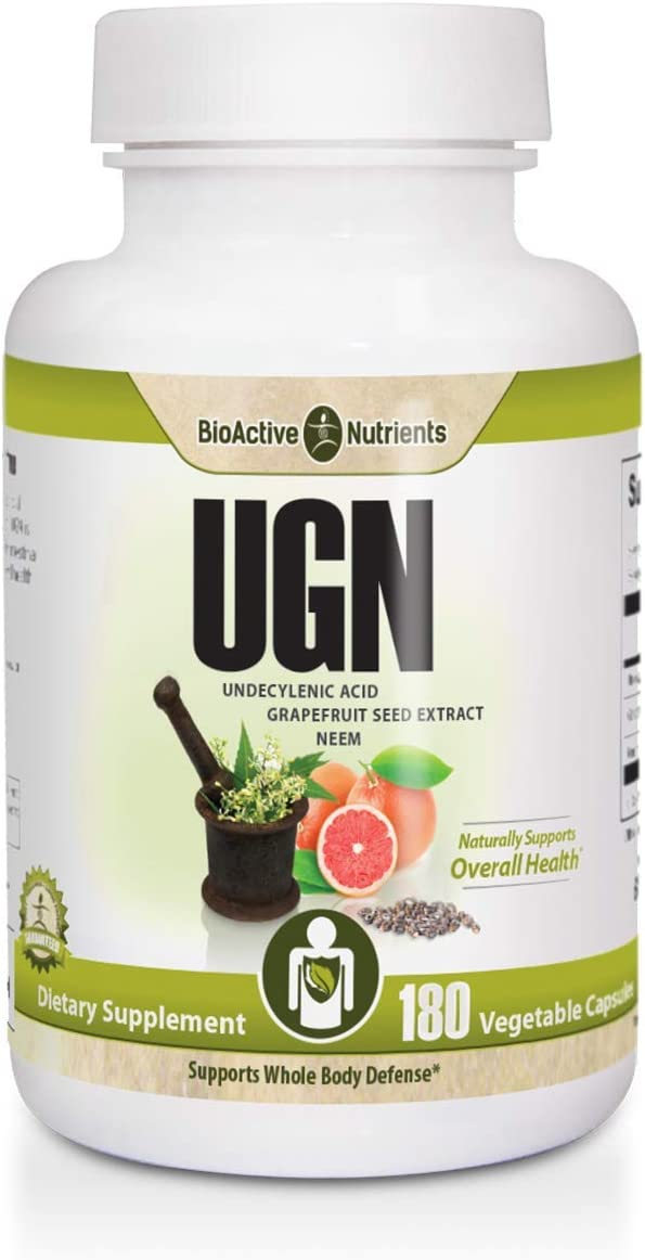 UGN – Undecylenic Acid Grapefruit Seed Extract Neem 180 Vegetable Capsules