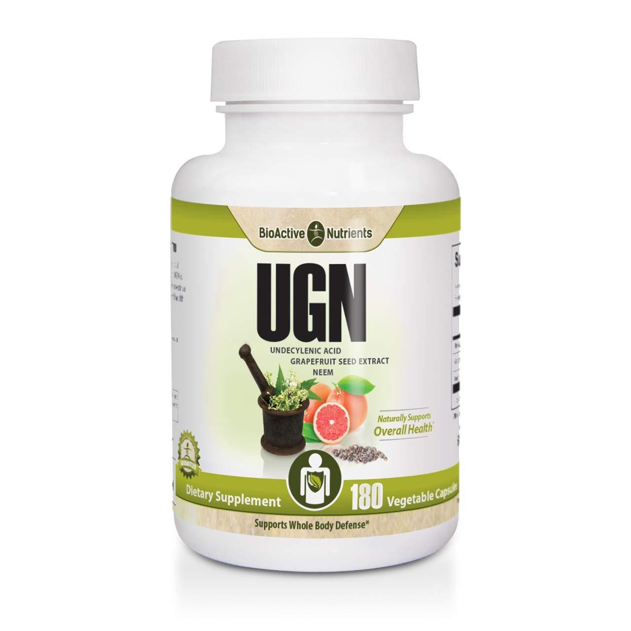 UGN - Undecylenic Acid | Grapefruit Seed Extract | Neem 180 Vegetable Capsules