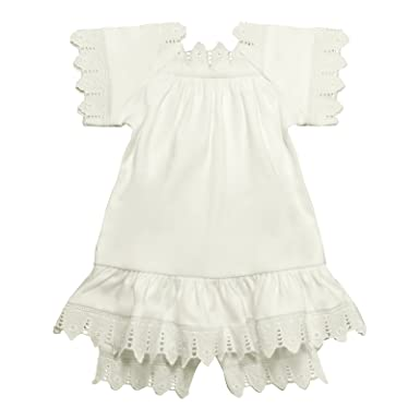 2a63bb1a30 Amazon.com  Victorian Organics Baby Girl Chemise Dress and Bloomer ...