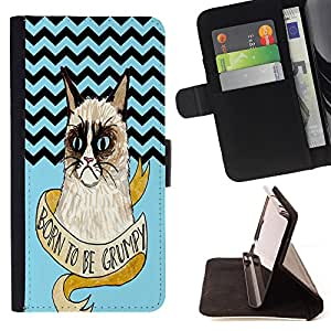 Pattern Queen - Chevron Grumpy Cat - FOR Apple Iphone 6 PLUS 5.5 - Hard Case Cover Shell