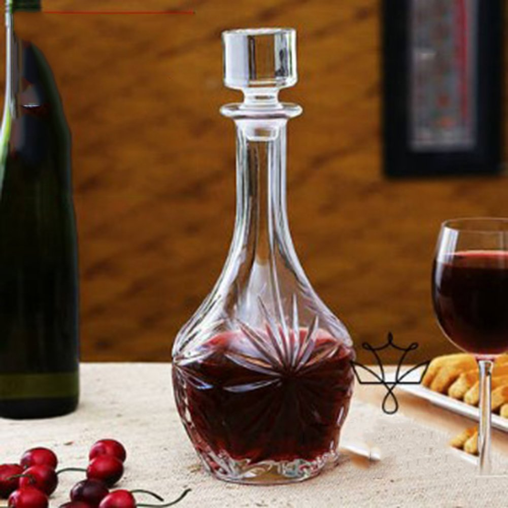 Yiyang Wine Decanter, Wine Inflator,  Red Wine Bottle, Wine Gift Wine Accessories, Red Wine Lead-Free Crystal Glass, Decanters, Household Wine Equipment with Cover Wine Bottle,F
