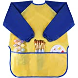 Kuuqa Childrens Kids Toddler Waterproof Play Apron Art Smock with 3 Roomy Pockets - Painting, Baking, Feeding Smock - Age 2-4 years (Paints and Brushes not included)