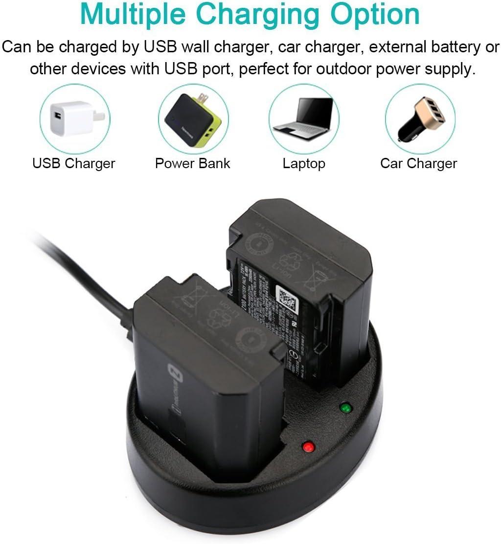 Newmowa Dual USB Charger for Sony NP-FZ100, BC-QZ1 and Sony a6600, Alpha 9, Sony A9, Sony Alpha 9R, Sony A9R, Sony Alpha 9S, Sony A7RIII, A7R3, Sony ...