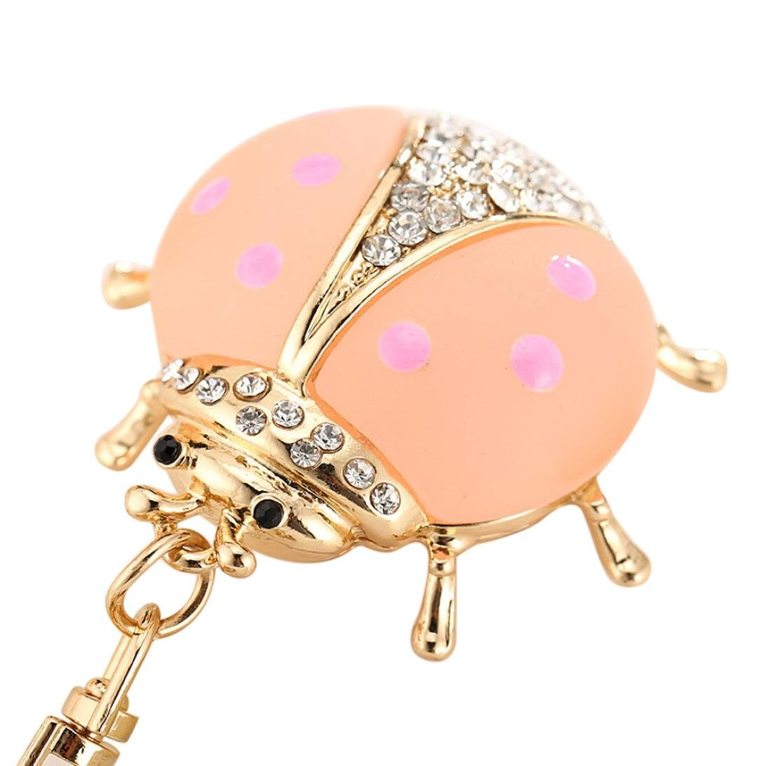 BEUU Animal Series Lovely Ladybird Creative Girl Bags Ornaments Rings For Women DW21515410210001