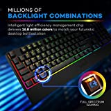 VAVA Mechanical Keyboard With Blue Switches, 16.8 Million RGB Backlit 104-key Anti-Ghost Gaming Keyboard (Non-Fading UV Coating for Professional Responsiveness, Cascading Key Design, For PC & Mac)