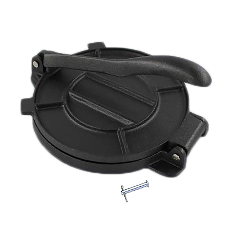 Bioexcel 8-Inch Cast Iron Tortilla Presser with Handle, Black by Bioexcel