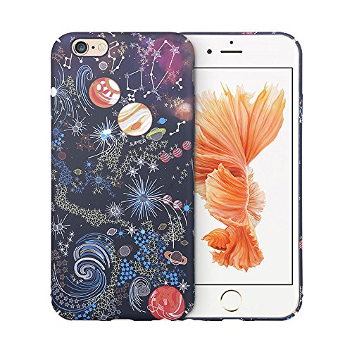 iPhone 6S Plus Hard Back Cover ycmcover Snap On Cute Stars World Galaxy Slim Fit Shell Case for iPhone 6 Plus/6S Plus 5.5-inch (black solar system)