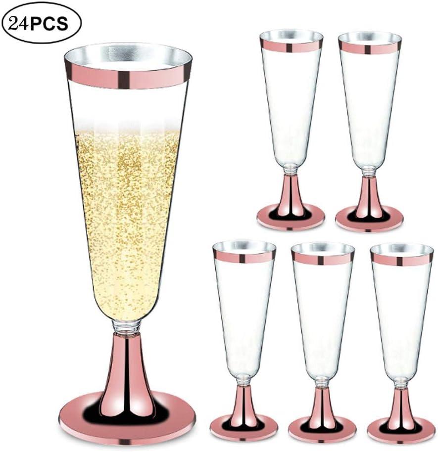 Meng Ran des flûtes de Champagne en Or Rose|Stemware Jetable
