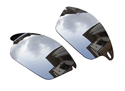 96c2cdef6fdb5 Image Unavailable. Image not available for. Color  Sunglasses Polarized  Replacement Lenses Silver for Oakley Fast Jacket OO9097 Sunglasses