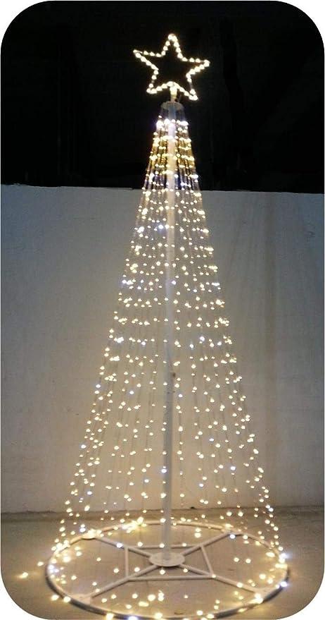 Albero Di Natale 6 Mt.Salone Negozio Online Albero Di Natale Style Prof 1600 Led Flash Con