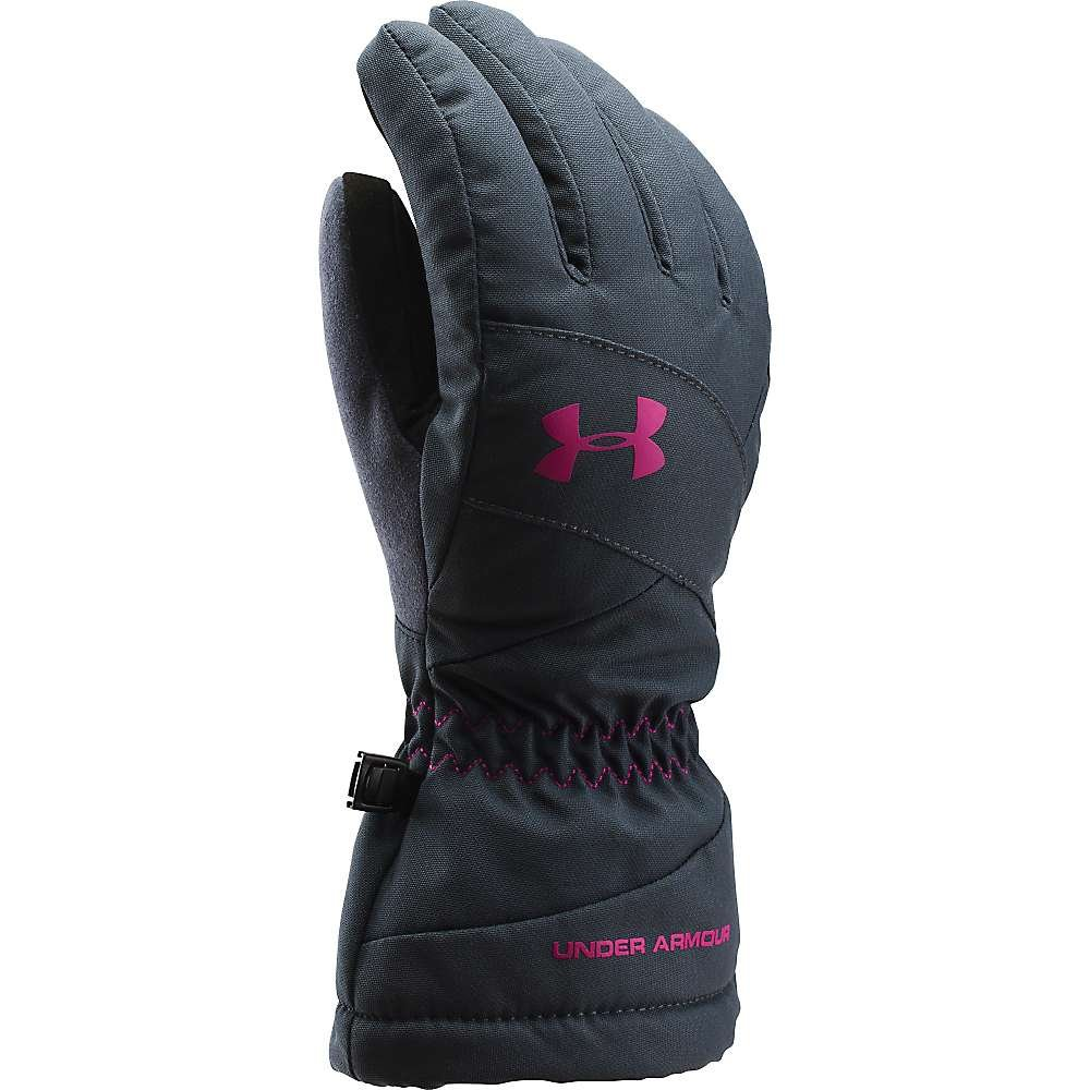 Under Armour Mountain Glove - Women's Stealth Grey / Magenta Shock Large