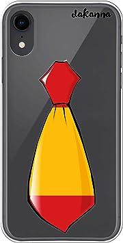 dakanna Funda para iPhone XR | Corbata Bandera España | Carcasa de Gel Silicona Flexible | Fondo Transparente: Amazon.es: Electrónica