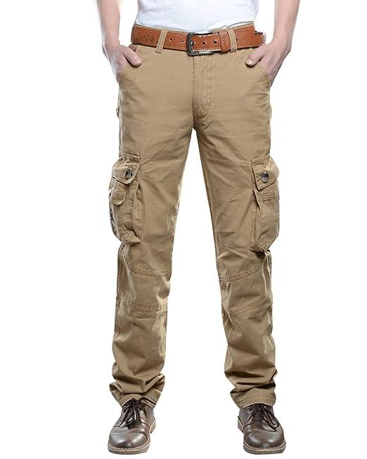 Pantalones Cargo para Pantalón Militar Pantalone Multibolsillos Hombre crsnUNeqST