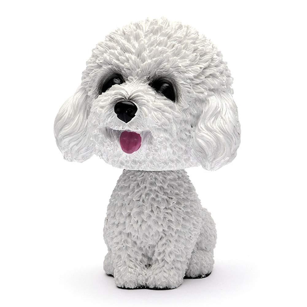 Lin XH Car Nodding Dog Doll Cute Dog Ornaments Shaking Bobble Head Dogs Decoration for Car Home Desk