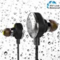 aelec® Bluetooth 4.1 Waterproof Wireless Headphones Sweatproof Bluetooth Stereo Sport Earbuds Headsets For iPhone6 6s 5s 4s Galaxy S6 S5 Running Hiking Noise Isolating