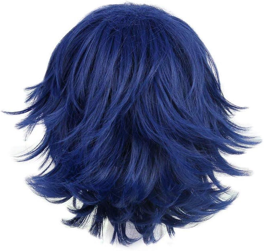Amazon Com Fwhwj Men S Layered Hair Wig Tokyo Ghoul Kirishima Ayato Cosplay Wig Blue Black Clothing