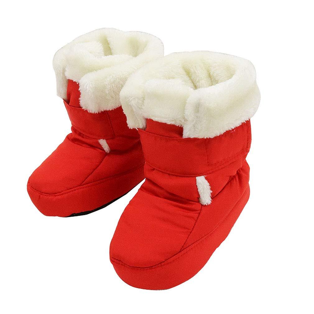 KVbaby Bottes Bottines Mixte bébé Chaussons Chaud Bébé Souple Chaussures Premiers Pas Bébé 0-12 Mois