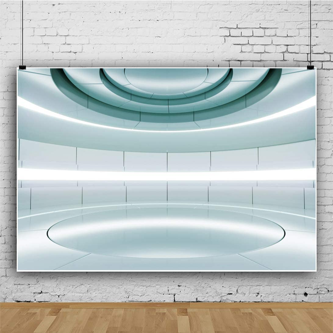 YEELE 10x8ft Futuristic Stage Backdrop Alien Spaceship Modern Future Technology Sci-Fi Interior Concept Photography Background YouTube Channel VBS Decor Portrait Photobooth Props Digital Wallpaper