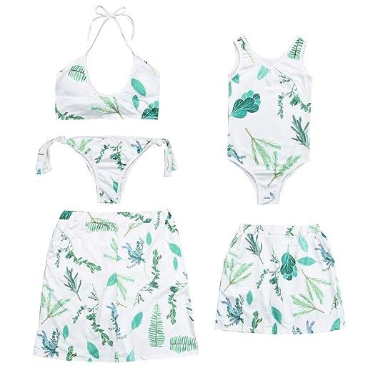 3b093b16af Family Swimsuits Matching Mom Dad Daughter Son Floral Bikini Monokini Swim  Trunks Parent-Child Swimwear